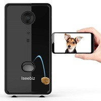 Iseebiz Cat Camera Treat Dispenser
