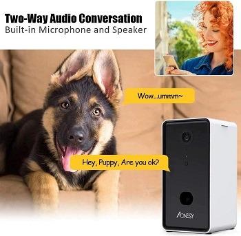 AONESY Dog Camera Dispenser review