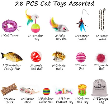 Mibote 28 Pcs Toys Pack Review