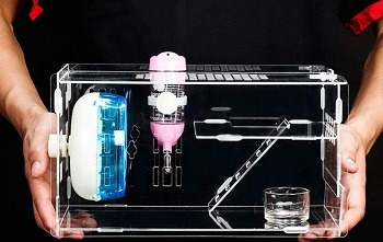 LLY Acrylic Cage Hamster Terrarium