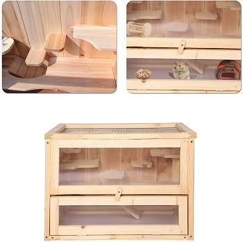 Lonabr Wooden Cage Hamster Terrarium Review