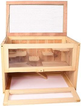 Lonabr Wooden Cage Hamster Terrarium