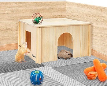 Pawchie Wooden House For Hamsters