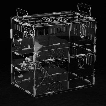 Homozy Acrylic Cage Hamster Enclosure Review