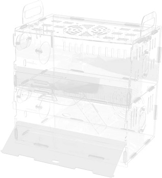 Homozy Acrylic Cage Hamster Enclosure