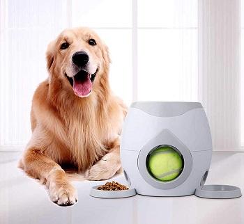 JOPETIO Automatic Dog FedderTennis Ball Dispenser
