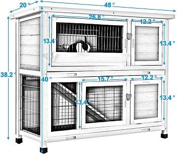 Lovupet Outdoor Wooden Small Animal House Summary (2)