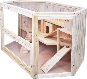 Niteangel Large Wooden Hamster Cage Review