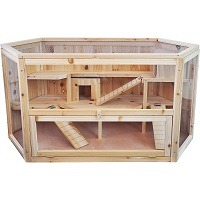 Niteangel Large Wooden Hamster Cage Summary