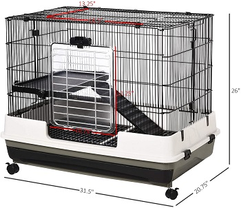 PawHut 2-Tier Compact Small Animal Cage Review