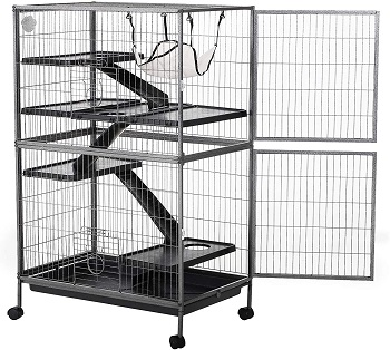 PawHut 4 Tier Stage Cage
