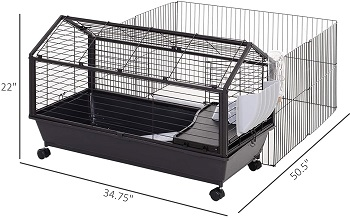 PawHut Rolling Metal Hutch Cage Review