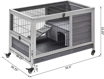 PawHut Wooden Indoor Elevated Cage Review