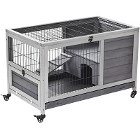 PawHut Wooden Indoor Elevated Cage Summary