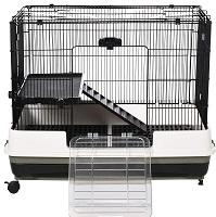 Pawhut Black Hamster Cage Summary