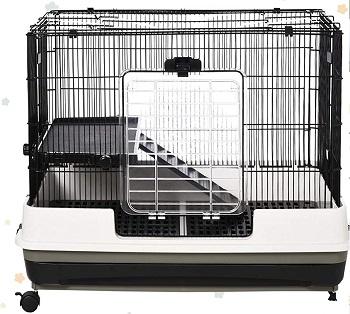 Pawhut Black Hamster Cage