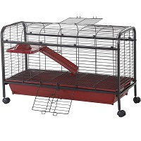 Pawhut Metal Cage With Wheels Summary