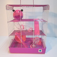 Penthouse Pink Cage For Hamsters Summary