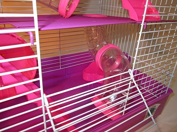 Penthouse Pink Cage For Hamsters