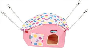 Tmishion Soft Pink Hamster House