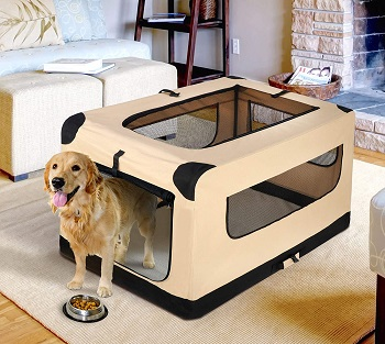 42Inch Dog Crate Folding Soft