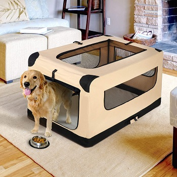 42Inch Dog Crate Folding Soft Kennel (2)