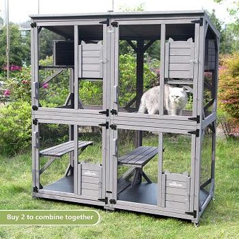 Aivituvin Weatherproof Cat Tower