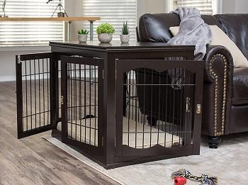 BIRDROCK HOME Decorative Dog Crate