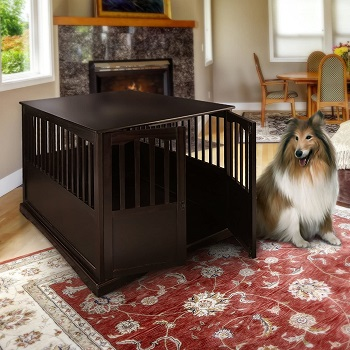 BEST OF BEST EXTRA LARGE WOODEN DOG CRATE