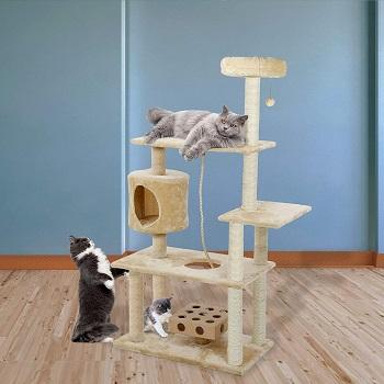 Furhaven White Tiger XXL Cat Tree