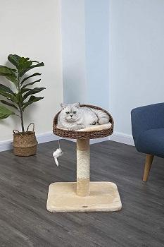 Go Pet Club Rattan Wicker Cat Tree Review