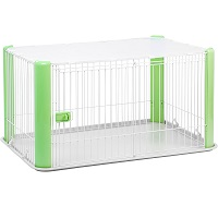 IRIS Large Wire Dog Crate with Mesh Roof Summary