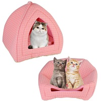 Laamei Small Pink Condo For Cats Summary