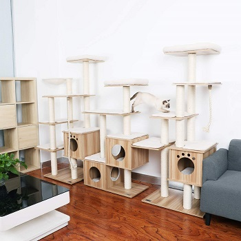 Lazy Buddy Wood Cat Tower Review