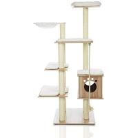 Lazy Buddy Wood Cat Tower Summary