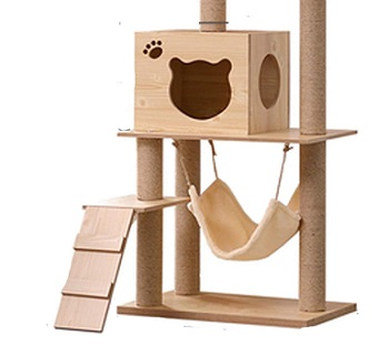 NC Solid Wood Cat Tree