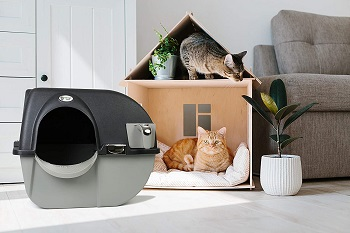 Omega Paw EL-RA20-1 Cleaning Litter Box