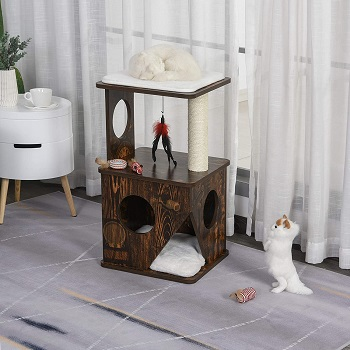 Pawhut Cat Tree Real Wood Review