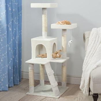 Pet Maker White Tree For Cats
