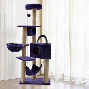 Pet Supplies Cat Deluxe Purple Tree