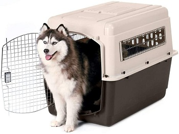 BEST HEAVY DUTY LARGE DOG AIRLINE CRATE
