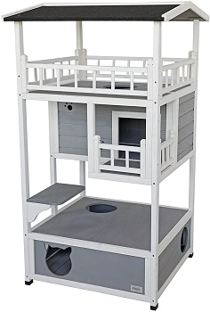 Petsfit Large Cat Tower House Wooden Review