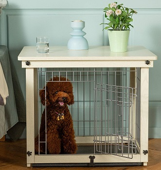 Simply Plus Wood And Wire Dog Crate