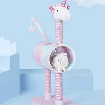 Topkitch Unicorn Activity Cat Tower