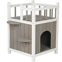 Trixie Small Wooden Cat Tower House Summary