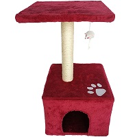 Vedem Plush Red Cat Tree Summary