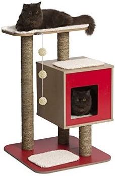 Vesper Red Dot Cat Tower review