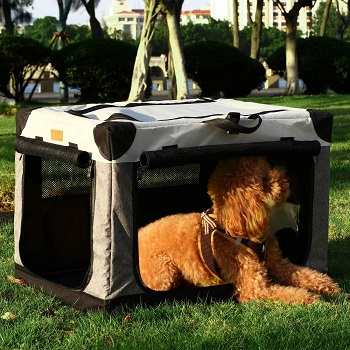 Akinerri Folding Soft Dog Crate