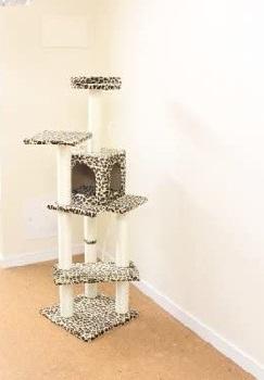 BestPet Leopard Condo Cat Tree