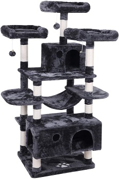 Bewishome Sturdy Cat Condo Tree